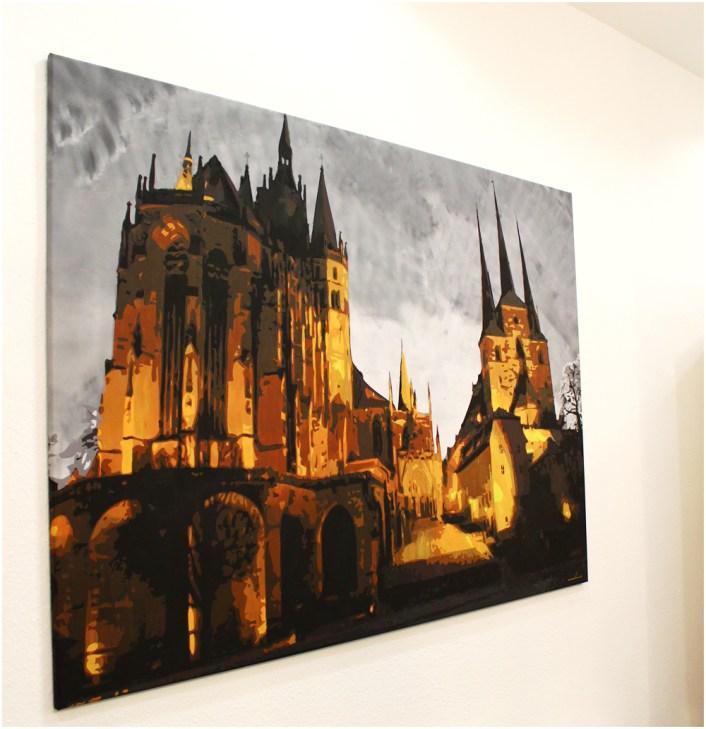 Erfurter Dom Kunst – monkimia – (200 cm x 140 cm) Verkauft