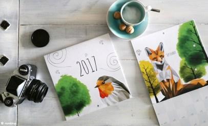 Broschürenkalender 2017 Design Monkimia Laserline