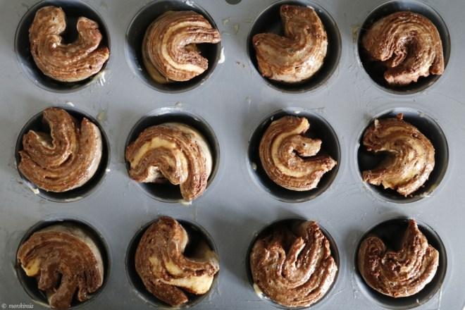 Schokoladen Muffins touriert