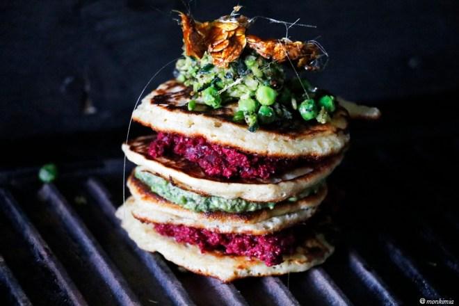 Haferflocken Pancake mit Pesto