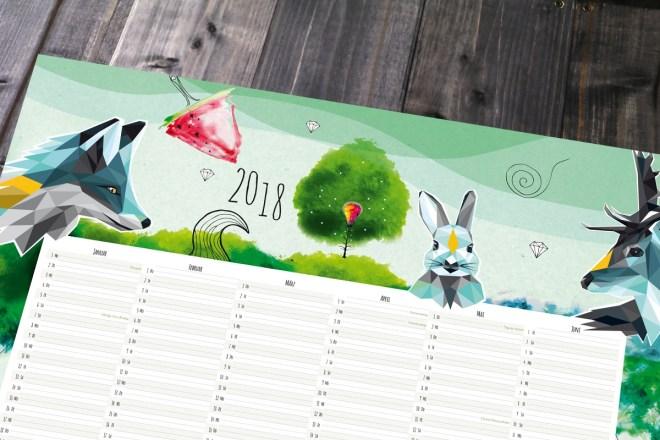 A1 Kalender Design Dawanda Monkimia