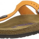 Birkenstock  Gizeh Leder Softfootbed, tongs adulte mixte – Orange – Orange, 38