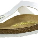 Birkenstock Gizeh, Tongs femme – Blanc (Pearly White), 38 EU