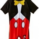 Disney – Maillot de bain de sport Garçon Mickey Mouse EN1852 – Noir (Black/Optic White/Red) – 5 ans