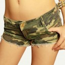 Hee Grand Femme Shorts Mini Cow-boy En Denim Chinois L Camouflage
