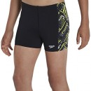 Speedo alv pnl garçon asht jM short de bain 9-10 ans Multicolore – Black/Grey/Green