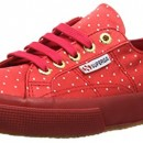 Superga 2750 DOTSSATINW, Sneakers Basses femme – Rouge – Rouge, 37
