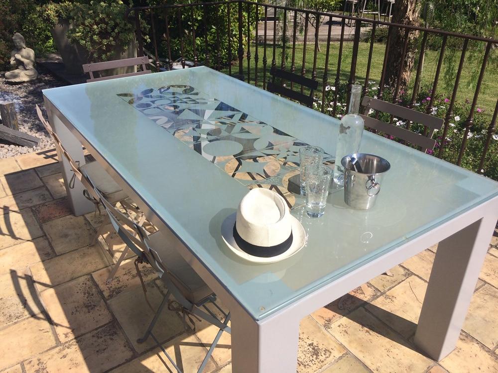 table verre de salle a manger ou d exterieur