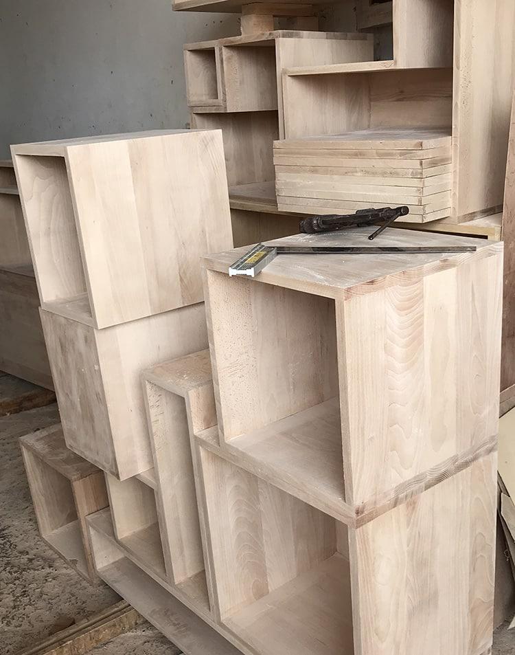 meuble bois salon au design exclusif une creation eco design artisanale