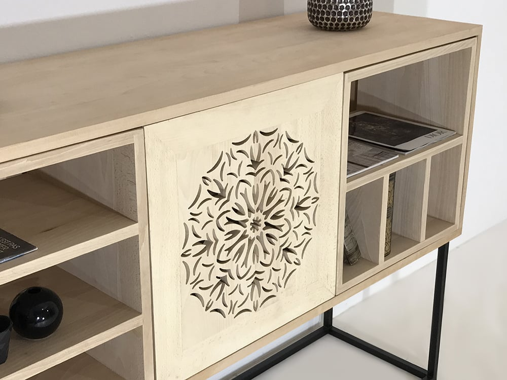 buffet enfilade bois massif vilnius mon meuble design sur mesure