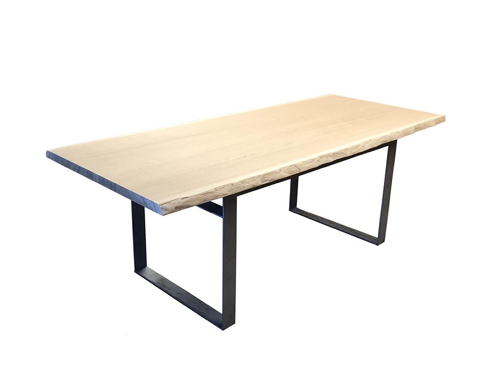 table bois et metal apogee
