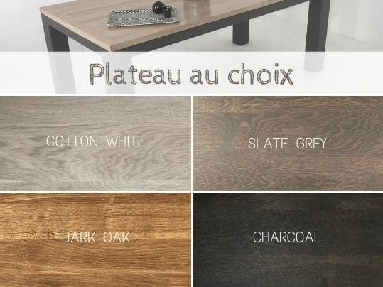 table bois massif elegante robuste