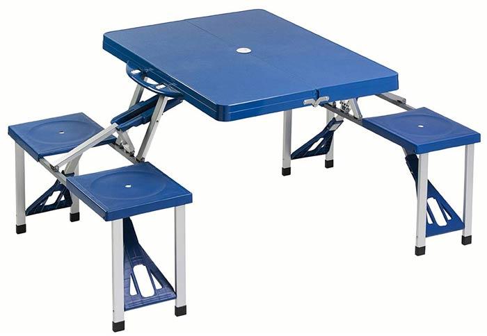 table d appoint pliante valise pique