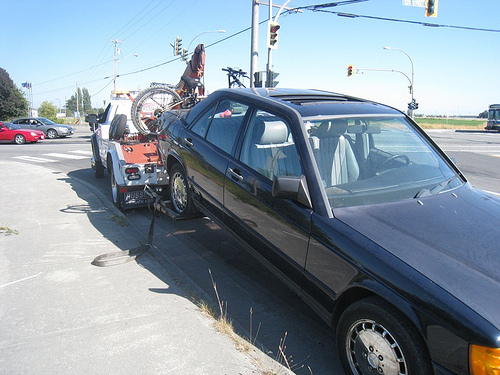 Being towed home