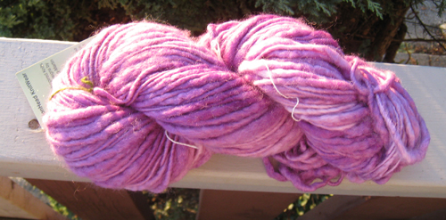 Hand dyed, hand spun by MelonHead Knitwear