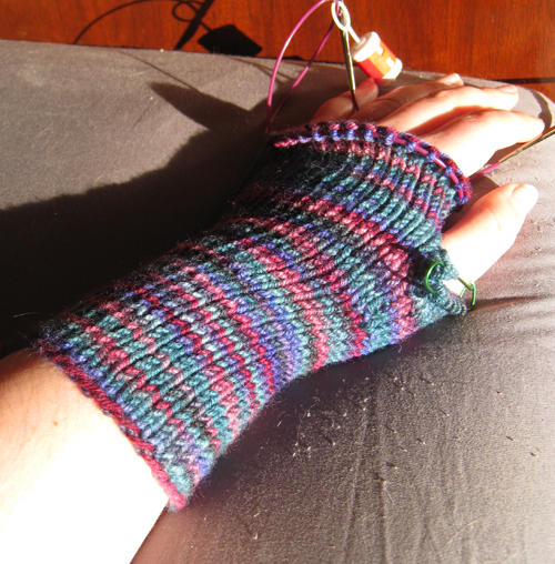 Fingerless Gloves - first of pair almost done