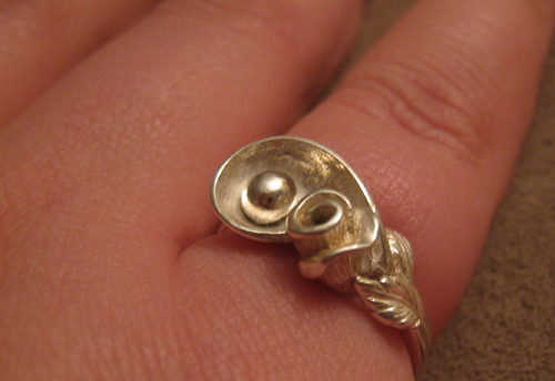 Silver handcast ring by Redearth Spirit Jewellery