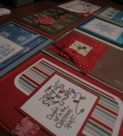 Handmade Christmas cards by The Cat's Meow Greeting Cards