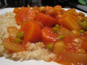 Vegetarian Korma in the crockpot