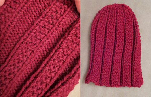 Knitted hat - Bus Pattern