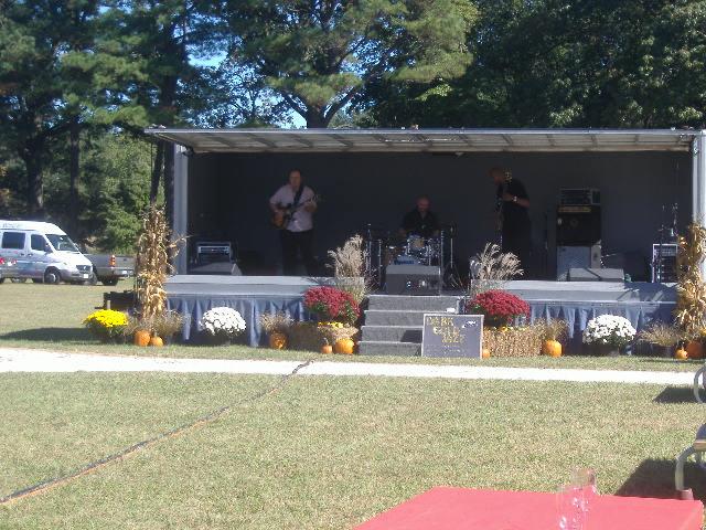 Dark Gold Jazz was the opening band Sunday.