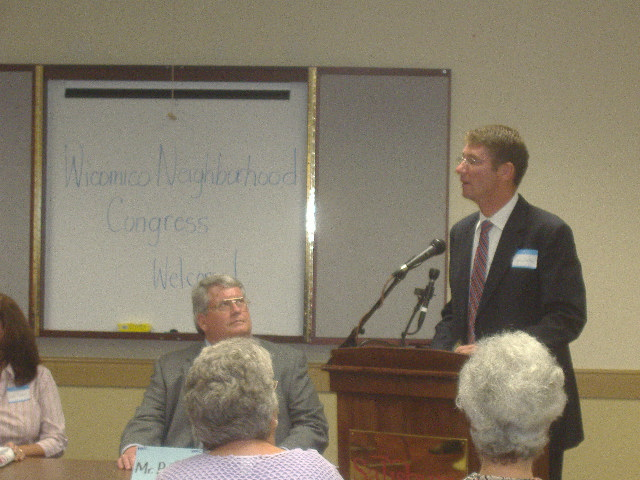 WNC Steering Committee Chair Jim Ireton delivered welcoming remarks as County Executive Rick Pollitt looks on.