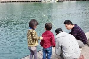 和歌山の田ノ浦漁港で釣り