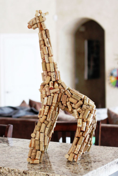Wine Cork Giraffe from Lil Boo Blue