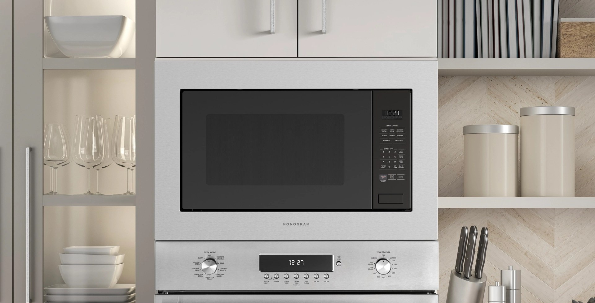 built in countertop microwave ovens