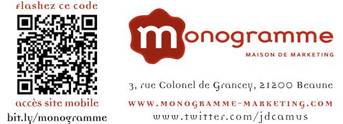 QR code et site mobile Monogramme maison de marketing
