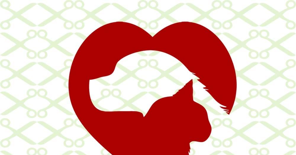 Download CAT & DOG SILHOUETTE HEART -Cricut & Silhouette Files SVG ...