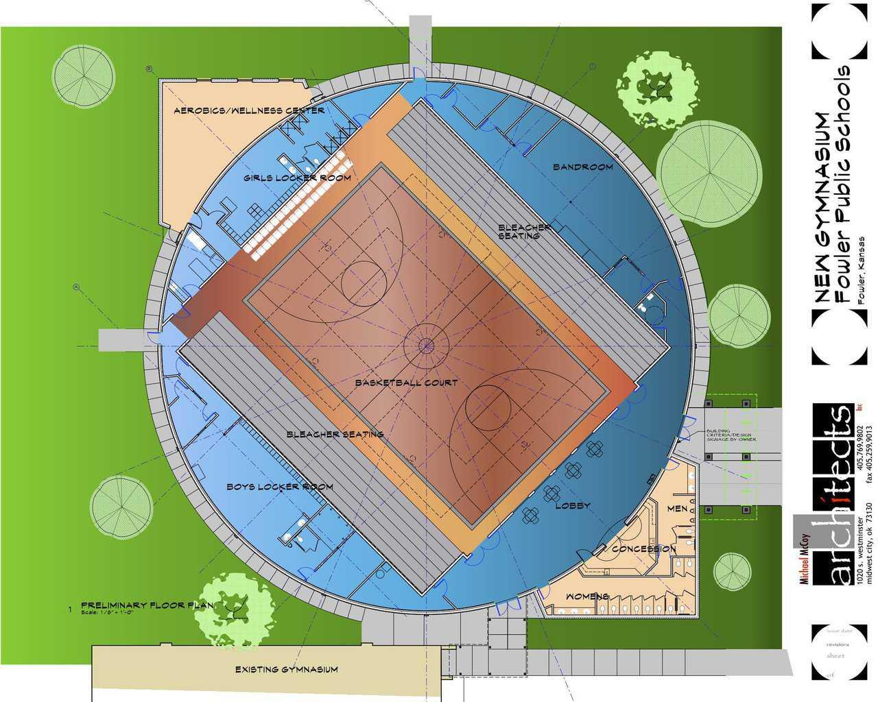 Best Kitchen Gallery: Big Open House At Fowler Usd 225 Monolithic Dome Institute of Sport Gym Floor Plan on rachelxblog.com