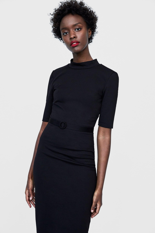 531eee3bee64 Happy Radio • ZARA: 15 υπέροχα μαύρα φορέματα για τις φθινοπωρινές ...