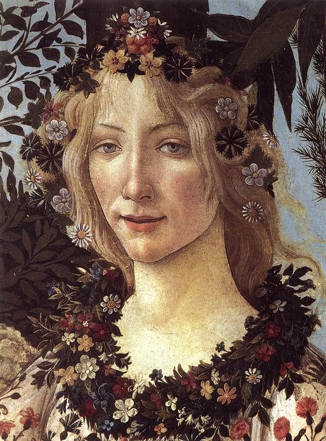 Λεπτομέρεια: η θέα των λουλουδιών, Φλώρα, Σάντρο Μποτιτσέλι