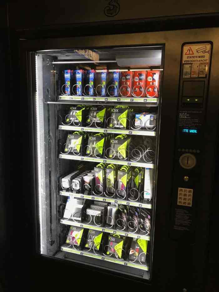 Automat für Handyzubehör