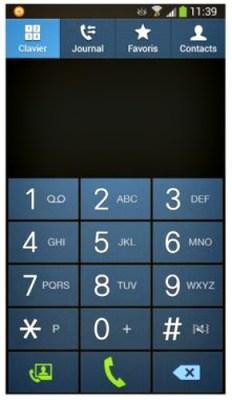 le clavier du téléphone