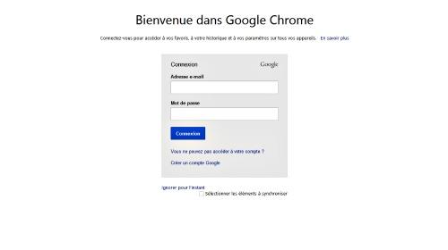 Associer votre compte gmail à Chrome