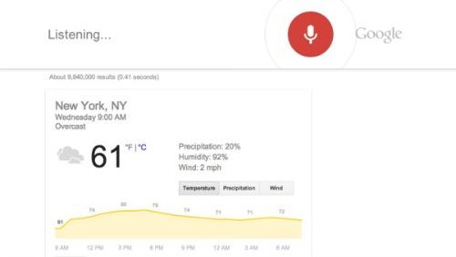 recherche vocale avec Google