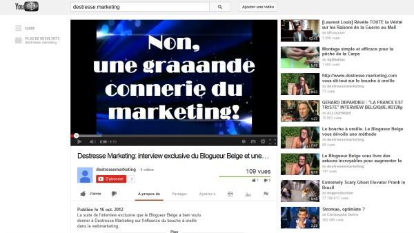 Cliquez sur la vignette de la video YouTube
