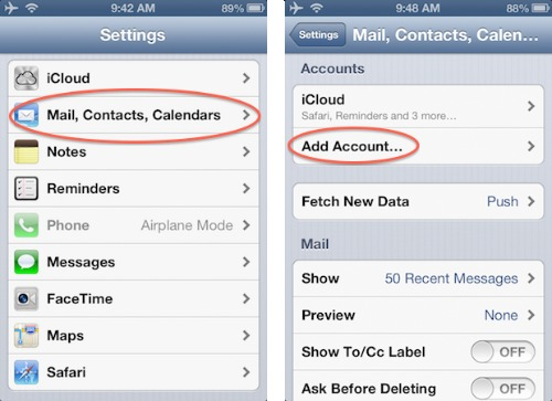 how to add email account on iphone tutoriel complet de l iphone 5 g 233 rer les contacts 19813