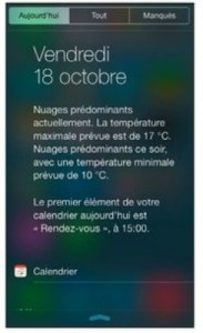 la meteo du jour sur l'iPhone 5