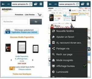 Version mobile et version bureau d'un site Web.