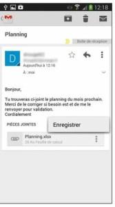 Récupérer des documents via la messagerie Gmail