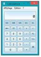 La calculatrice standard