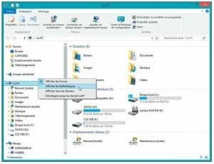 Affichez les bibliothèques de Windows