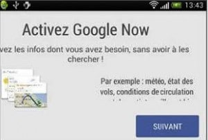 Activer l'assistant Google Now