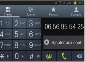 Composer un numéro depuis l'écran tactile