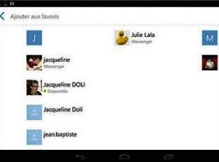 Créer une liste de favoris avec Skype