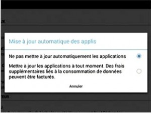 Empecher la mise à jour automatique des applis