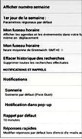 Parametrer les notifications d'évenements